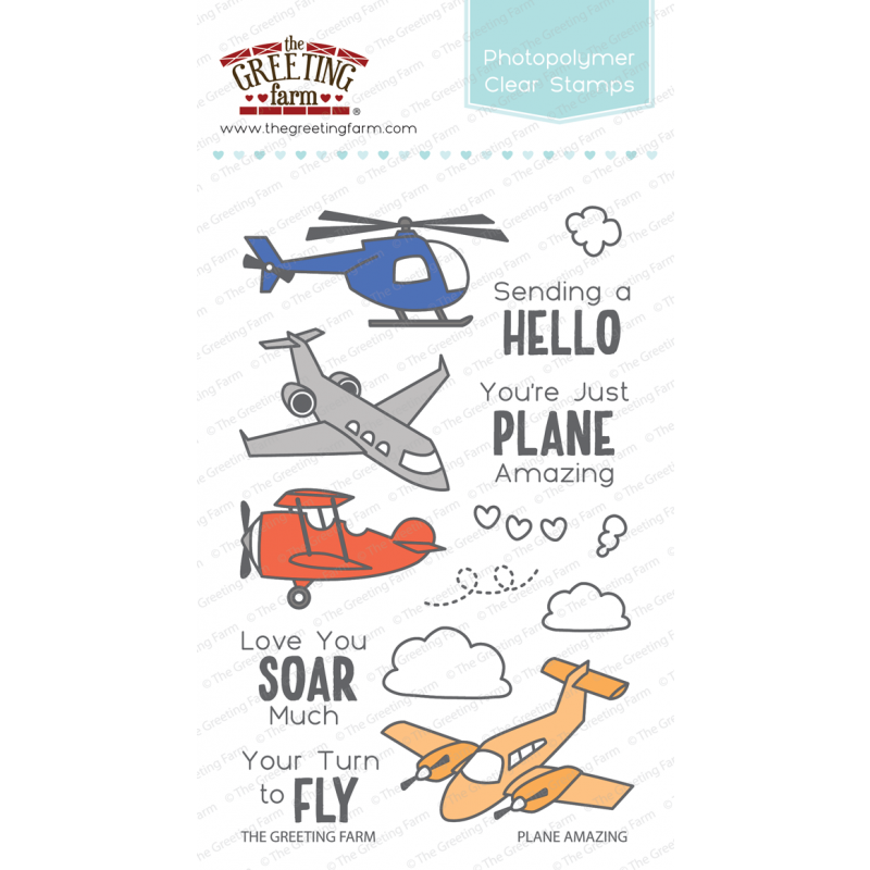*NEW* - The Greeting Farm - Plane Amazing - Clear