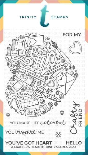*NEW* - Trinity Stamps - A Crafters Heart Clear Photopolymer Stamp Set (4x6)