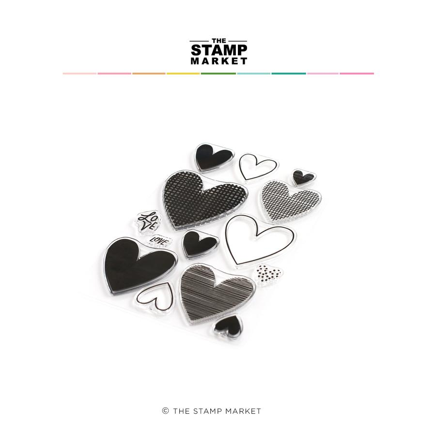 The Stamp Market - All Hearts Stamp Set