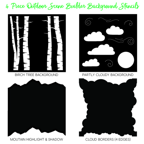 *NEW* - Honey Bee - Outdoor Scene Builder Stencils | Set of 4