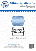 ###Whimsy Stamps - Tiny Tags Die Set - Shapeology Dies###