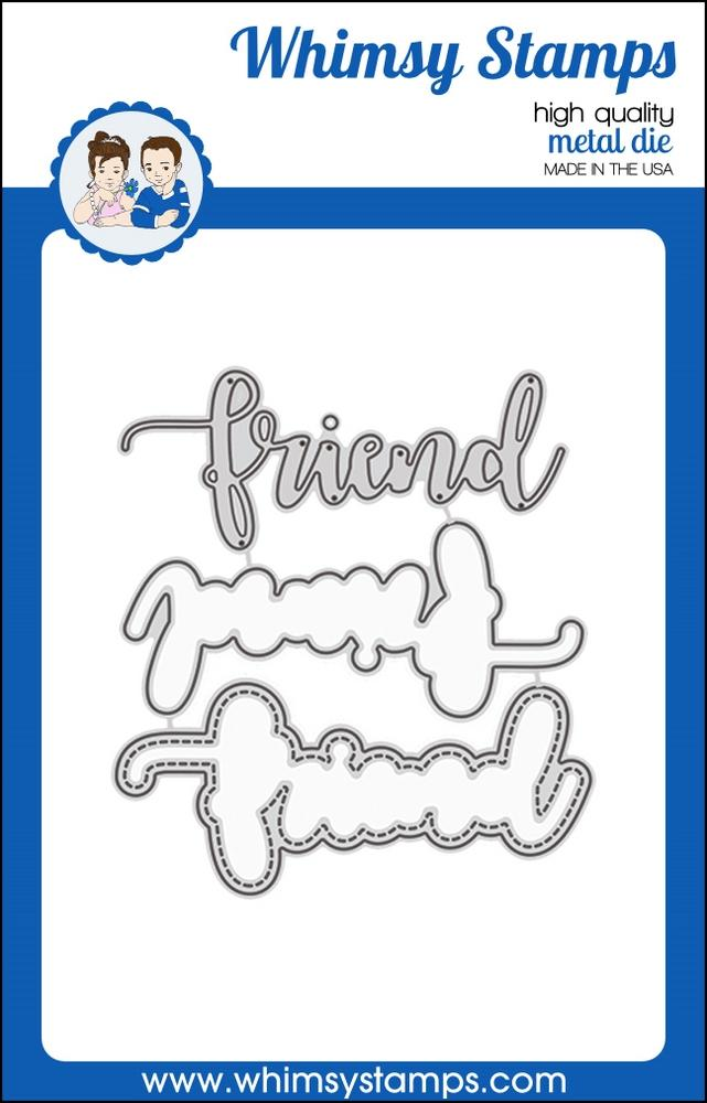 Whimsy Stamps - Friend Word and Shadow Die Set
