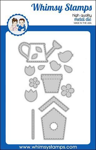 ###Whimsy Stamps - Build-a-Garden Die Set
