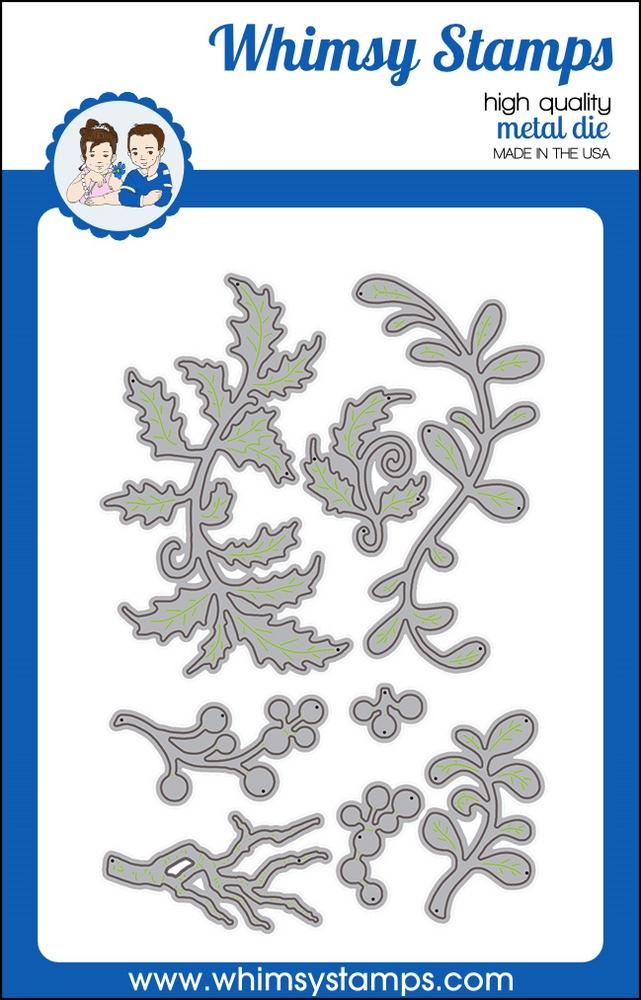 *NEW* - Whimsy Stamps - Christmas Branches Die Set