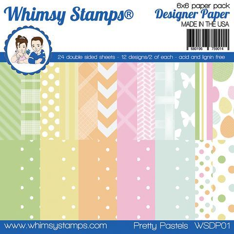 Whimsy Stamps - 6x6 Paper Pack - Pretty Pastels