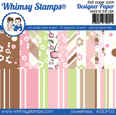 Whimsy Stamps - 6x6 Paper Pack - Sweetness