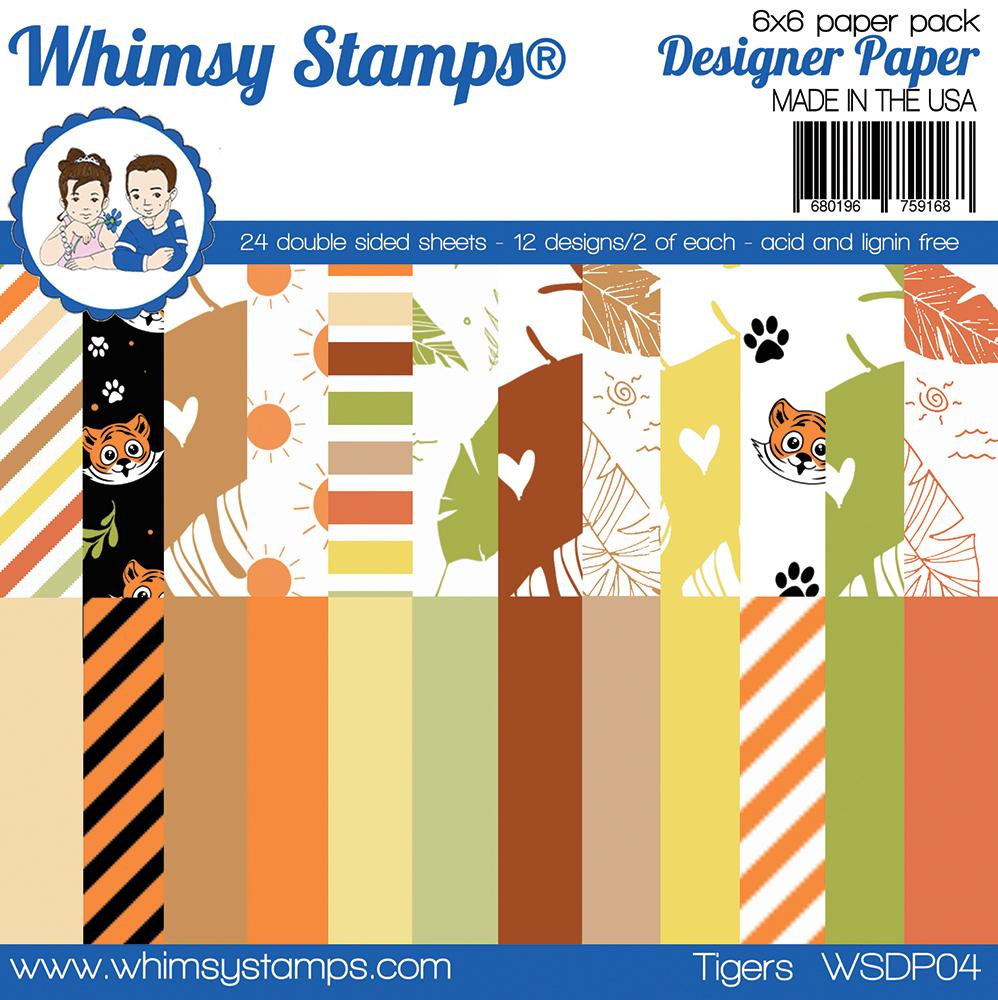 Whimsy Stamps - 6x6 Paper Pack - Tigers