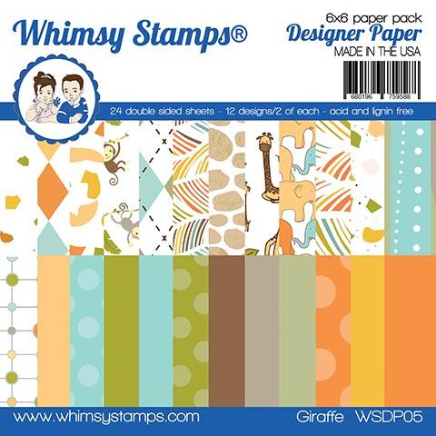 Whimsy Stamps - 6x6 Paper Pack - Giraffe