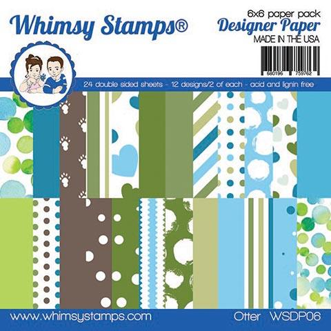 Whimsy Stamps - 6x6 Paper Pack - Otters