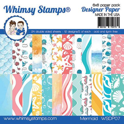 Whimsy Stamps - 6x6 Paper Pack - Mermaid