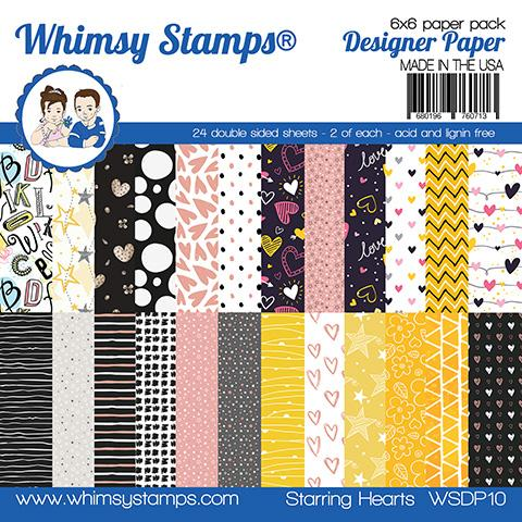 Whimsy Stamps - 6x6 Paper Pack - Starring Hearts