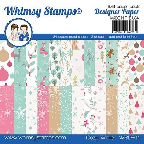 Whimsy Stamps - 6x6 Paper Pack - Cozy Winter