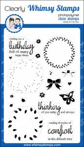 * Whimsy Stamps - Spring Wreath - Clear Stamps