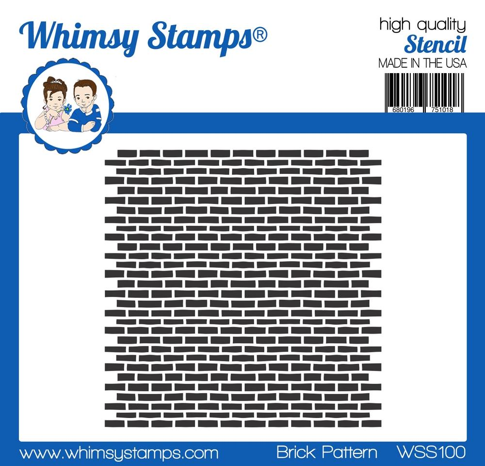 Whimsy Stamps - Brick Pattern Stencil