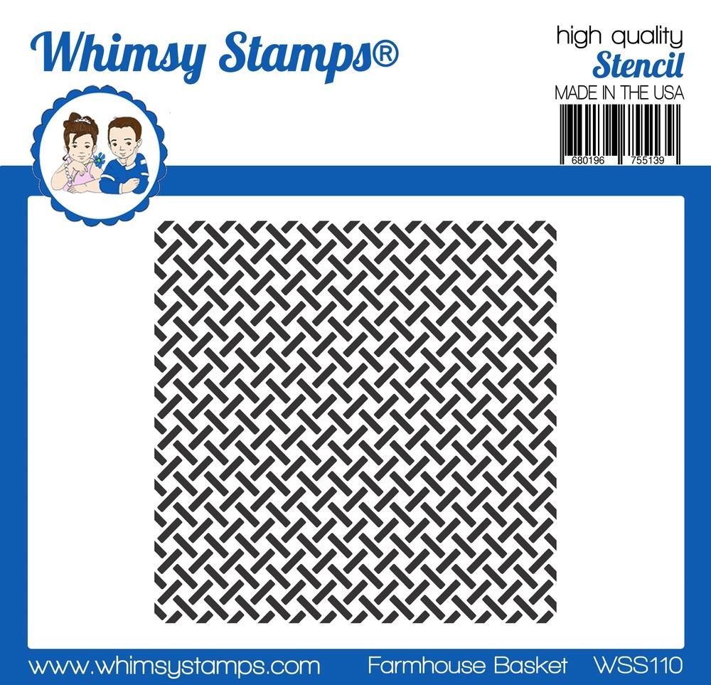 Whimsy Stamps - Farmhouse Basket Stencil