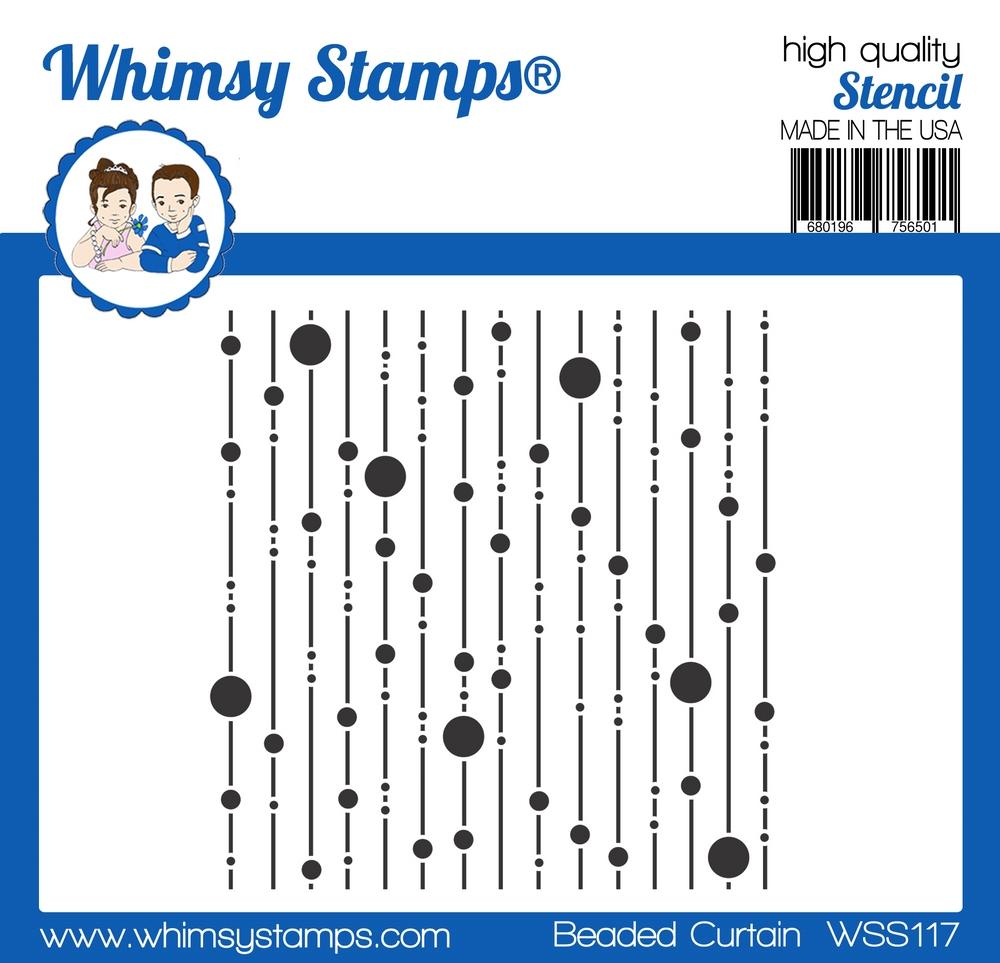 Whimsy Stamps - Beaded Curtain Stencil
