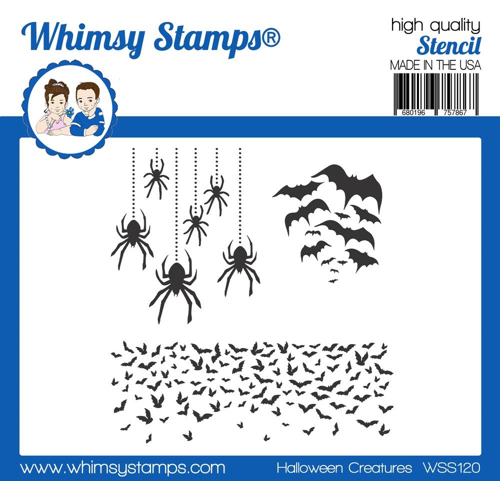 Whimsy Stamps - Halloween Creatures Stencil