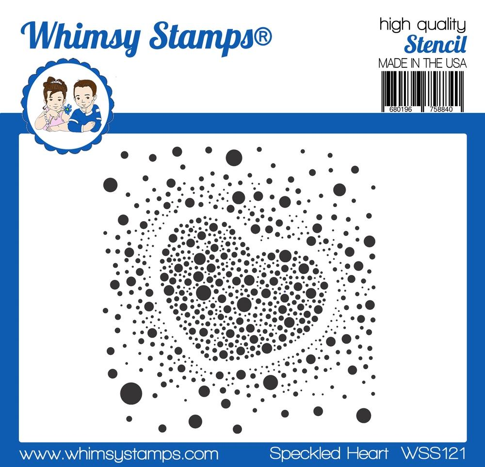 Whimsy Stamps - Speckled Heart Stencil
