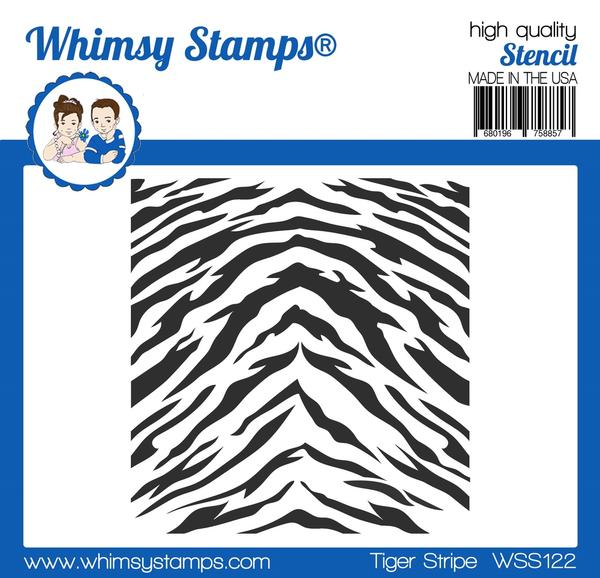 Whimsy Stamps - Tiger Stripes Stencil
