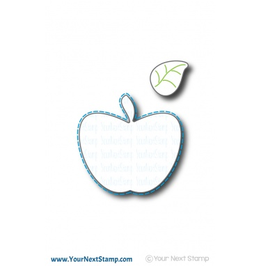 Your Next Stamp- Large Stitched Apple Die Set