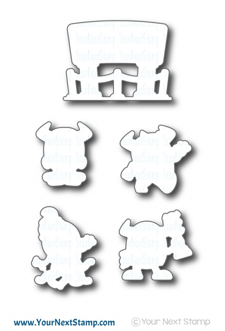 *NEW* - Your Next Stamp - Silly Monsters Say Cheese Die Set