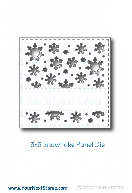 Your Next Stamp - 3x3 Snowflake Panel Die