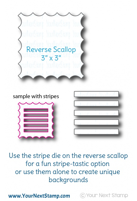 *PRE-ORDER* - Your Next Stamp - Reverse Scallop with Optional Stripes