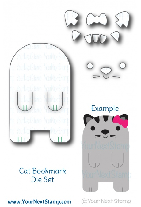 Your Next Stamp - Cute Cat Bookmark die set