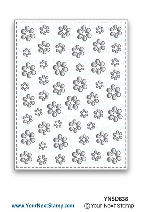 Your Next Stamp - Flower Petal Panel Die