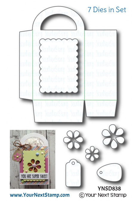 Your Next Stamp - Flower Treat Bag Die Set