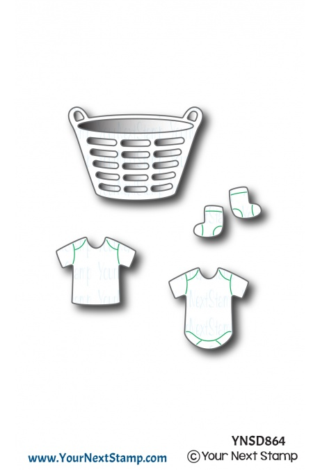 Your Next Stamp - Cute Laundry Die Set