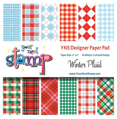 Your Next Stamp- Winter Plaids Paper Pad