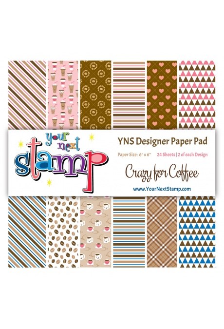 Your Next Stamp - Crazy For Coffee 6x6 Paper Pad
