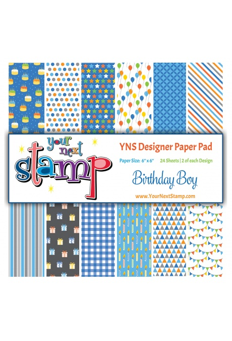 Your Next Stamp - Birthday Boy 6x6 Paper Pad