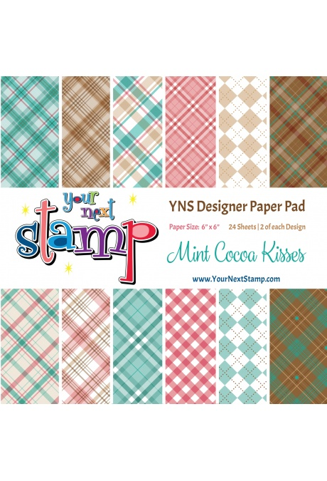 Your Next Stamp - Mint Cocoa Kisses 6x6 Paper Pad
