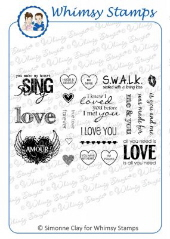 *WS* Whimsy Stamps - All You Need is Love - SC Design Collection