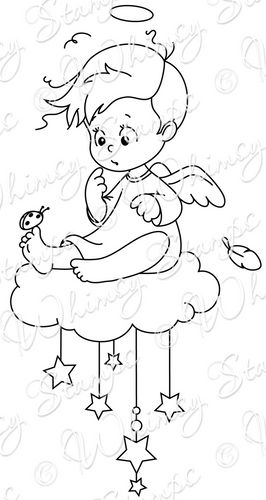 Whimsy Stamps - Wee Stamps - Angel Cody - Wee Stamps