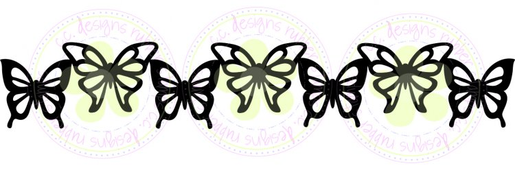 CC Cutters - Butterfly Border Die