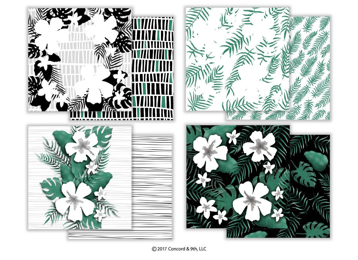 *NEW* - Concord & 9th - Aloha Fill-In Patterned Paper