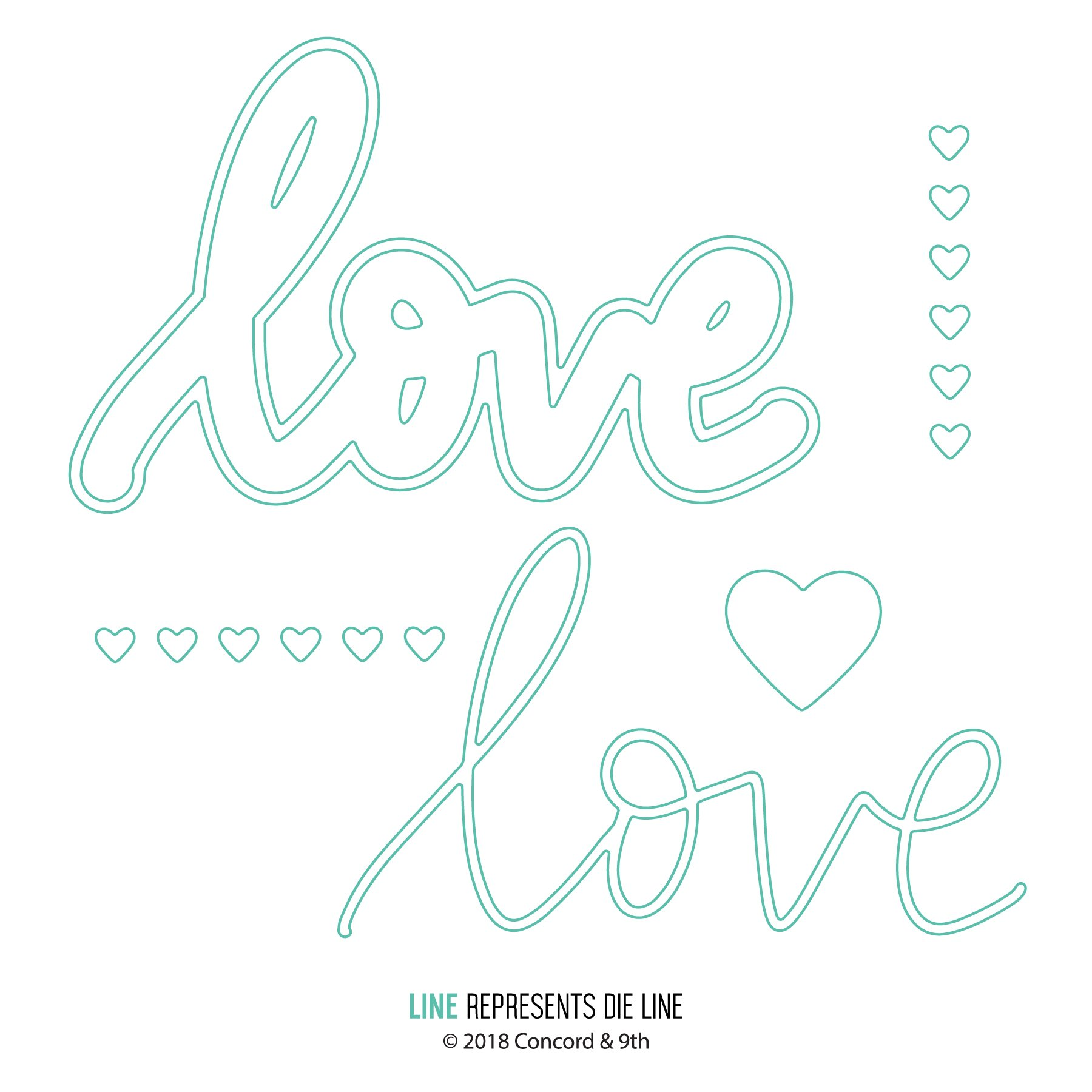 *PRE-ORDER* - Concord & 9th - Hearts and Love die