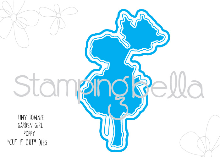 Stamping Bella - Tiny Townie Garden Girl Poppy Cut It Out Die