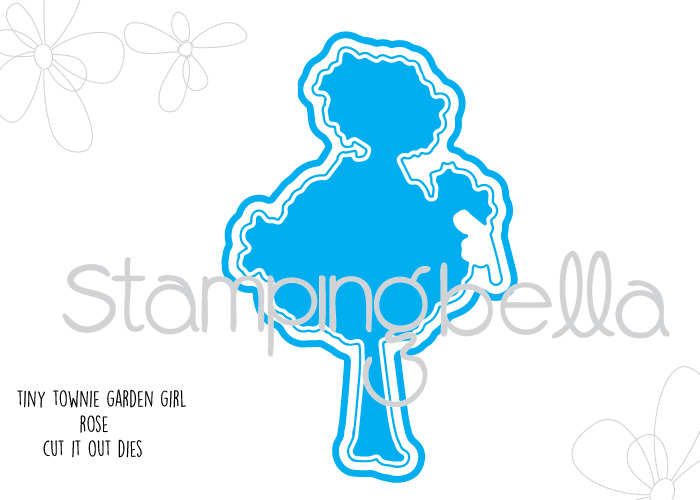 Stamping Bella - Tiny Townie Garden Girl Rose Cut It Out Die