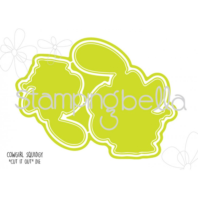 Stamping Bella - Cowgirl Squidgy CUT IT OUT DIE