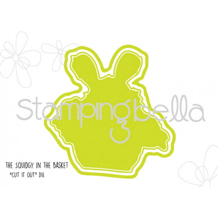*NEW* - Stamping Bella - The Squidgy in a basket CUT IT OUT DIE