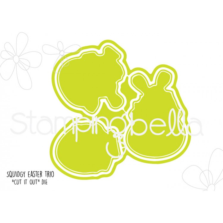 *NEW* - Stamping Bella - Squidgy Easter trio CUT IT OUT DIE