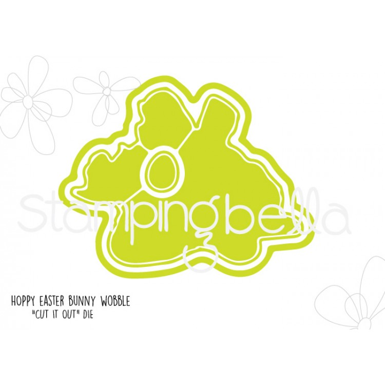 *NEW* - Stamping Bella - Hoppy Easter bunny wobble CUT IT OUT DIE