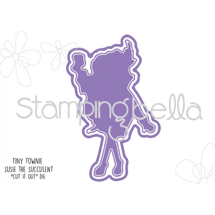 Stamping Bella - Tiny Townie Susie the Succulent CUT IT OUT DIE