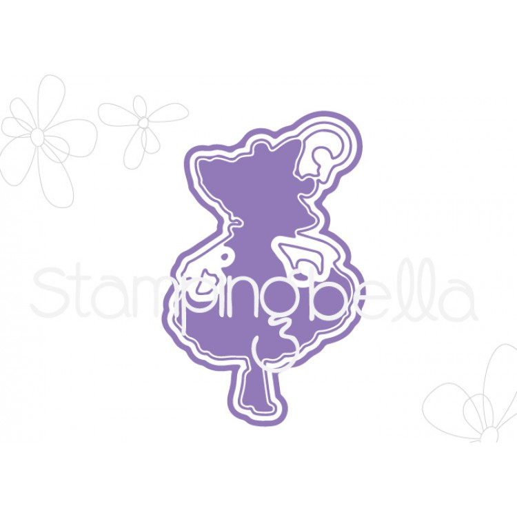 Stamping Bella - Tiny Townie garden girl, morning glory CUT IT OUT DIE