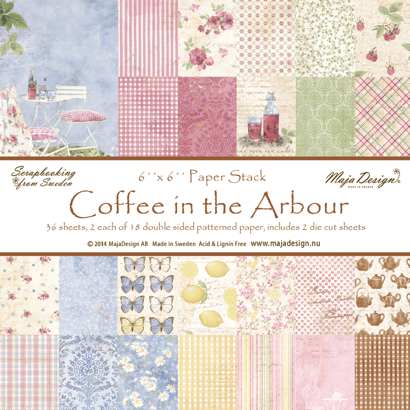 Maja Design - Coffee in the Arbour  6 x 6 Pad