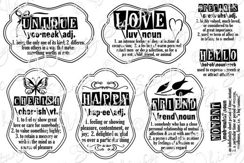 Whimsy Stamps - Definitions Notables 4 - Sentiments Collection